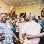 PDP Osun Governorship Candidate, Senator Adeleke receives his pop star nephew, Davido ahead of the poll in Osogbo