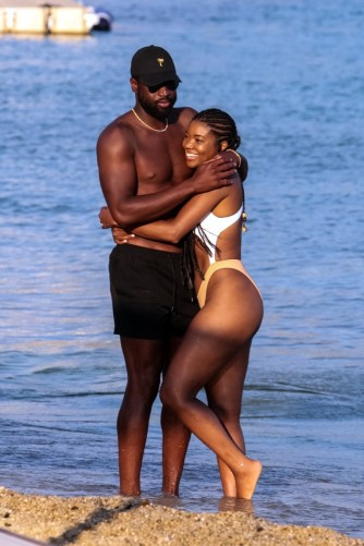 Mykonos is party central and a hub of celeb activity. Gabrielle Union and Dwyane Wade enjoyed a sun-soaked getaway on the island in August.