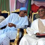 Shehu Sani President Muhmmadu Buhari and Governor Nasir pictured at an All Progressives Congress, APC