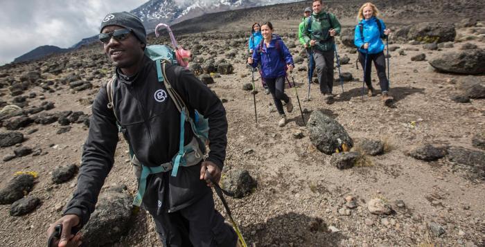 Climbers on Mount Kilimanjaro | G Adventures