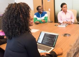 kelechi business management women woman laptop office tech