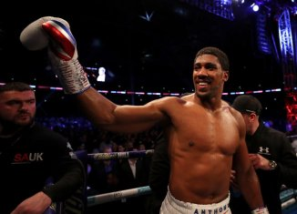 Anthony Joshua says he wants to fight WBC heavyweight champion Deontay Wilder in April. | BBC Sports/Twitter