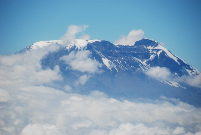 The peak of Mount Kilimanjaro Africa