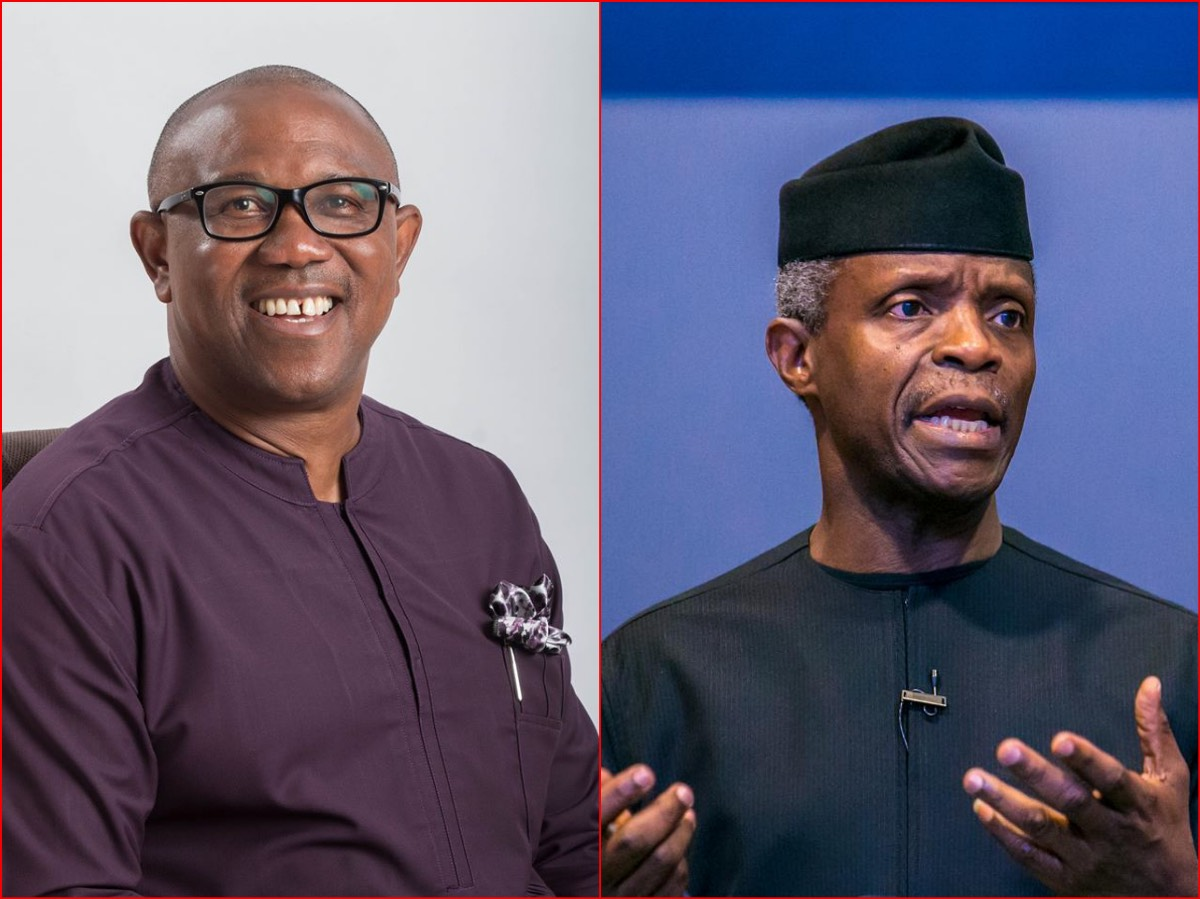 Image result for osinbajo and peter obi pics together