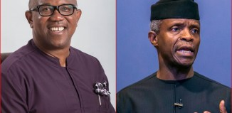Peter Obi, the VP candidate of the PDP (left) and VP Yemi Osinbajo, the candidate of the APC