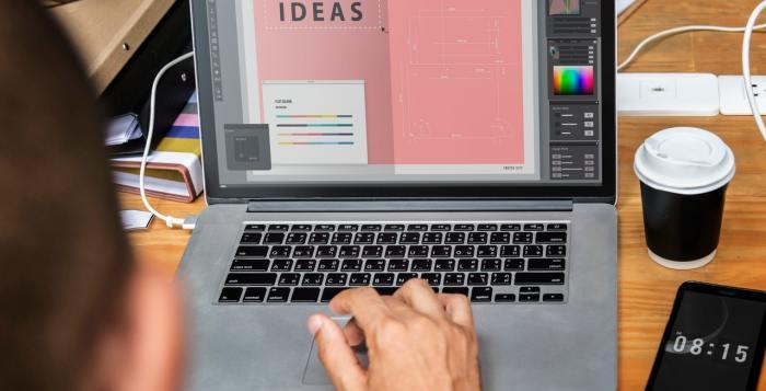 web development graphics design graphics designer laptop