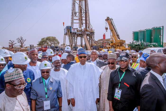 President Buhari Flags Off The Spud-In of Kolmani River II Well Drilling in Bauchi State on 2nd Feb 2019