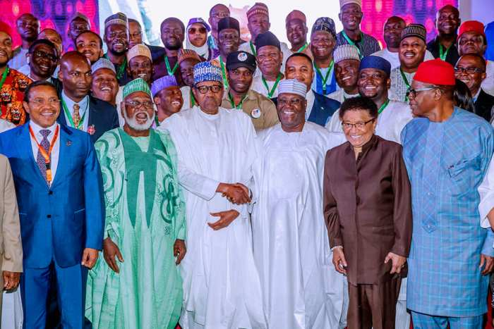 President Buhari and former Vice President Atiku Abubajar participate at the signing of 2nd National Peace Accord in Abuja on 13th Feb 2019 | State House Photo