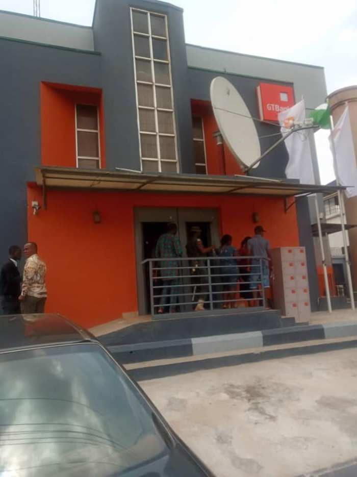 "GTBank Awka Branch in Anambra State on Friday, March 29, 2019 ""taken over"" by Innoson Group based on a court order. 