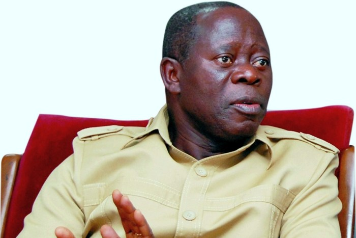 Adams Oshiomhole, the national chairman of the All Progressives Congress, APC