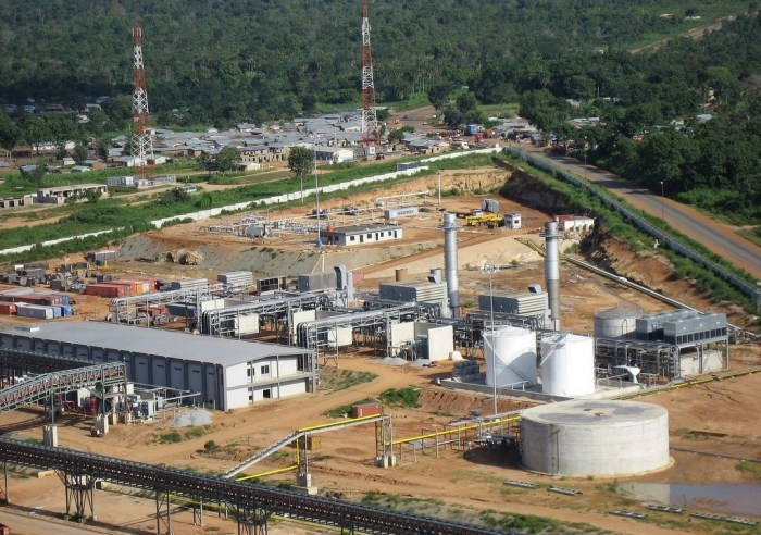 An aerial view of a Dangote Cement Factory