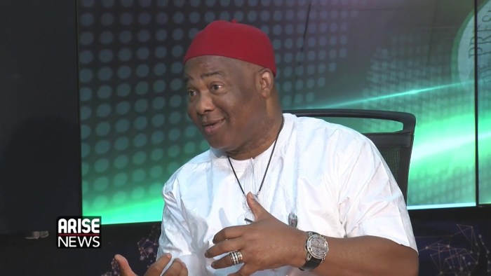 Senator Hope Uzodinma | Screengrab from Arise TV