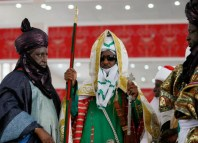 Emir of Kano, Muhammad Sanusi II at his coronation in 2014