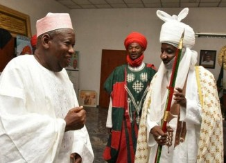 Governor Abdullahi Ganduje of Kano State and Emir Sanusi aren't the best of friends