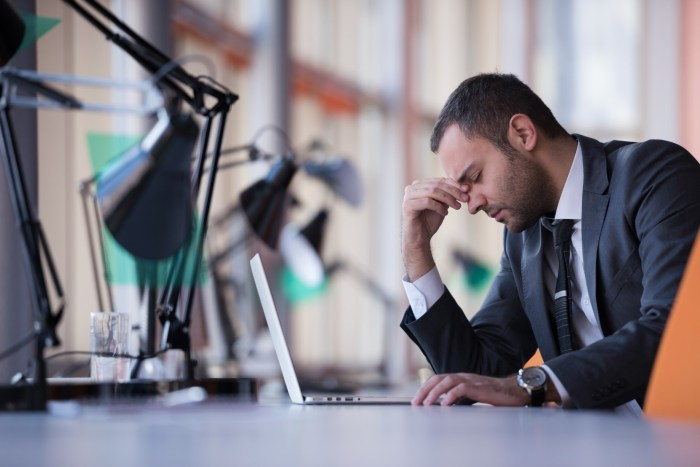 worried man office