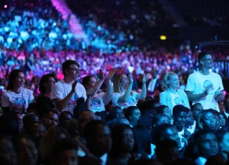 Thousands of people meet at the World Evangelism Conference with Pastor Chris Oyakhilome in London, United Kingdom