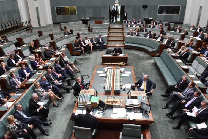 Australian parliament during sitting