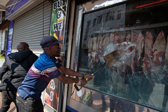 File photo of Xenophobic Attack in South Africa
