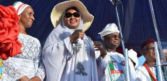 Aisha Muhammadu Buhari, Yahaya Bello