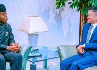 China's richest man, Jack Ma, meets with Nigeria's Vice President Yemi Osinbajo on Thursday, November 14, 2019