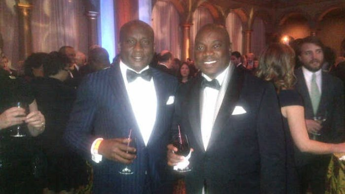 Kuku, Onyema with President Barrack Obama and VP Joe Biden during the inauguration party for Obama's second term.