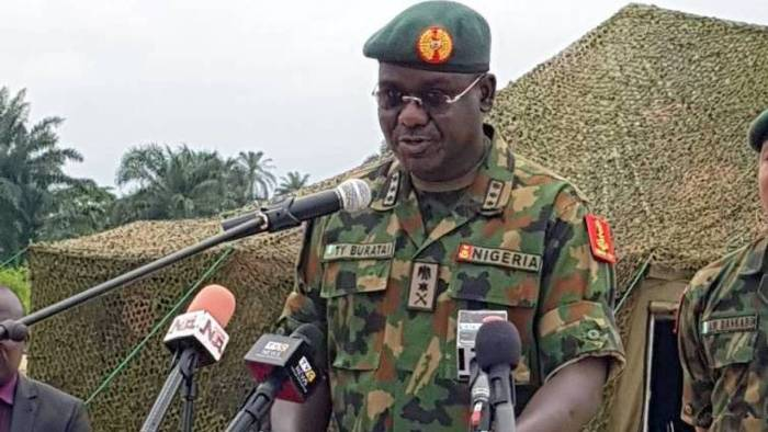 The Chief of Army Staff, Lieutenant General Tukur Yusuf Buratai