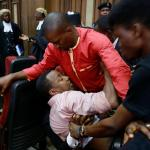 Drama at the Federal High Court: Supporters of SaharaReporters Publisher, Omoyele Sowore prevent his arrest by operatives of Nigeria's secret police, the Department of State Security, DSS on Friday, December 6, 2019