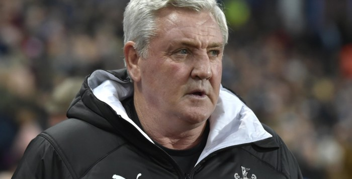 Newcastle United's English head coach Steve Bruce looks on during the English Premier League football match between Crystal Palace and Newcastle United coronavirus.