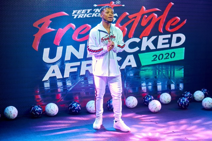 Street Style Dance King, Poco Lee, host of the African Freestyle Football Championships held on Sunday Aug 2, 2020