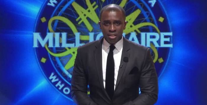 Frank Edoho, host of 'Who Wants to be a Millionaire' in Nigeria pictured in a promo for the show | Endemol PR handout