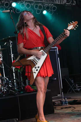 Grace Potter Red Dress Guitar