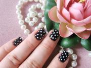 polka dots nail art tutorial &