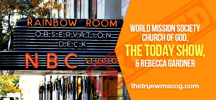 WMS Church of God on the Today Show