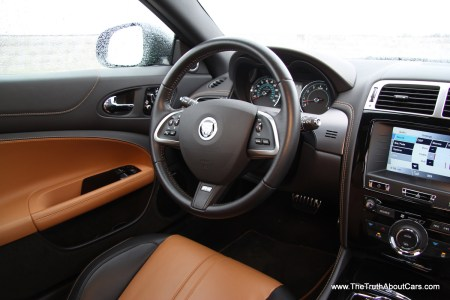 2012 Jaguar XKR-S, Interior, driver's side, Photography Courtesy of Alex L. Dykes