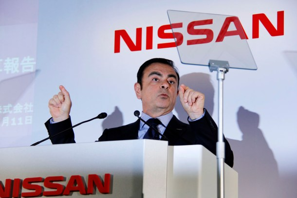 Carlos Ghosn speaks -01. Picture courtesy Bertel Schmitt