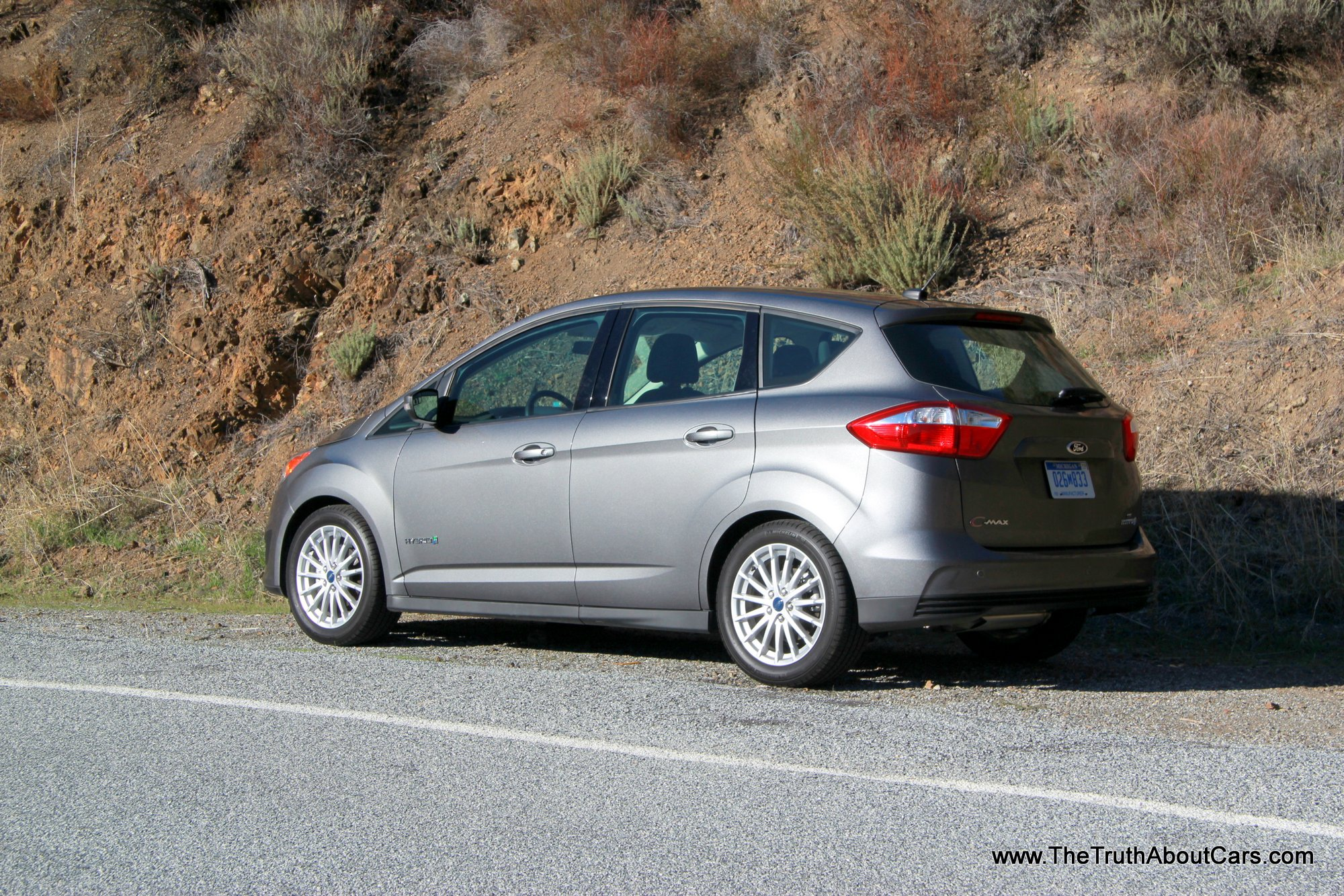 2013 ford c max hybrid exterior rear 3 4 picture courtesy