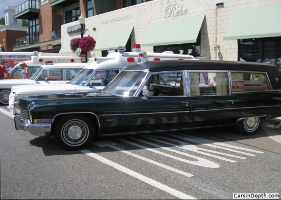 Some professional car makers offered dual use vehicles, often used in smaller communities, that functioned as both ambulances and hearses. Mid to late 1960s Cadillac based.