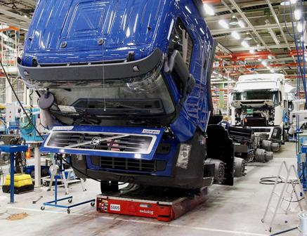 Volvo assembly line