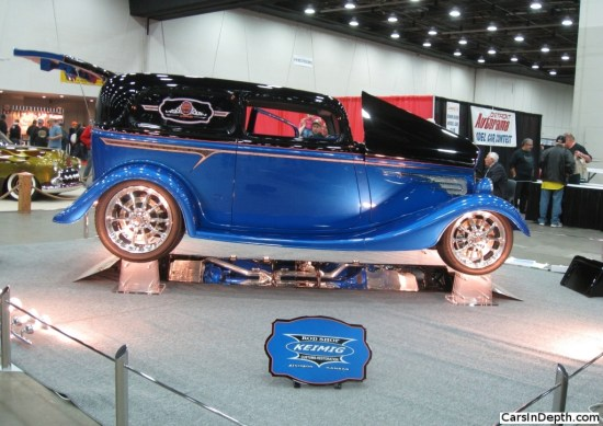 ed Seese's 1933 Ford Sedan Delivery is based on Corvette mechanicals. Full gallery here.