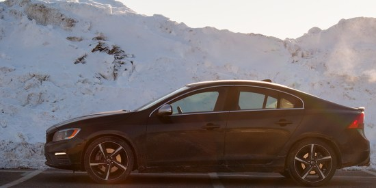 side view of 2014 Volvo S60 T6 AWD R-Design