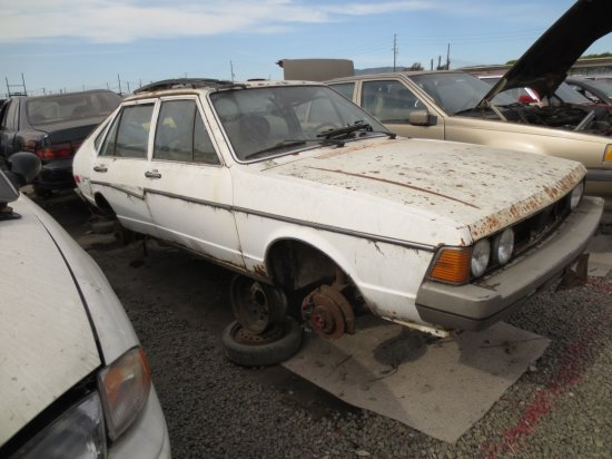24 - 1980 Volkswagen Dasher Down On The Junkyard - Picture courtesy of Murilee Martin