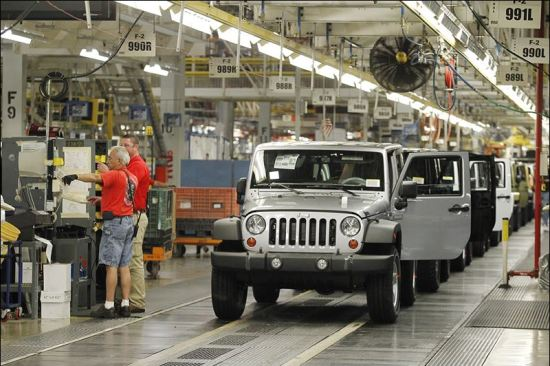 Jeep Wranglers Coming Down The Line In Toledo