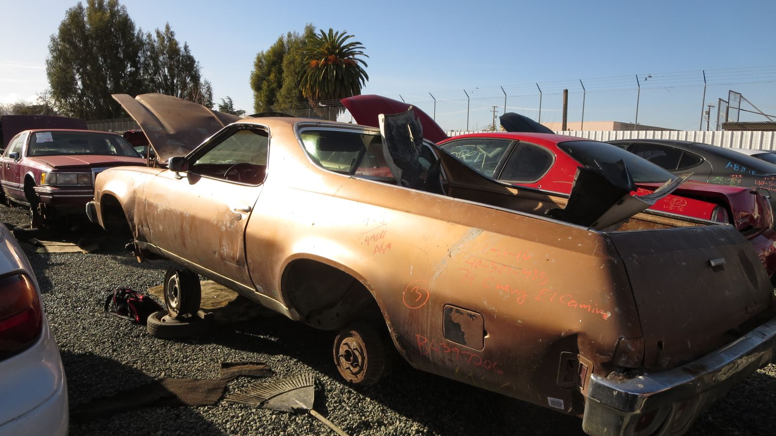 hight resolution of 1974 chevrolet el camino in california junkyard lh rear view 2016 murilee martin