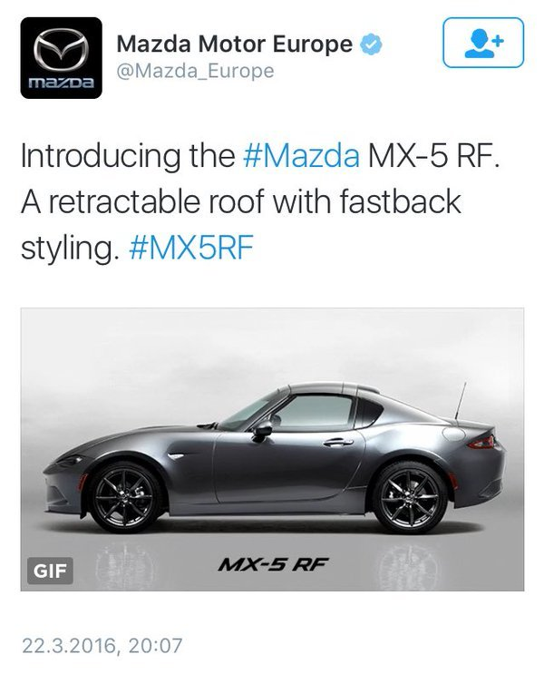Mazda MX-5 RF (Retractable Roof)