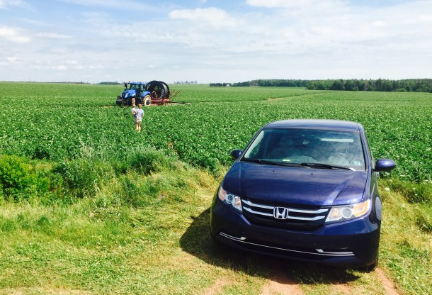2015 Honda Odyssey EX potato field, Image: © 2016 Timothy Cain/The Truth About Cars
