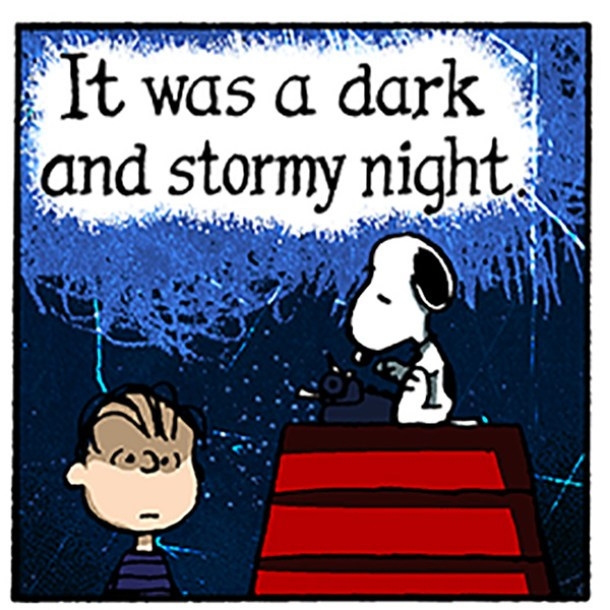 snoopy-dark-and-stormy-night Courtesy dogster.com