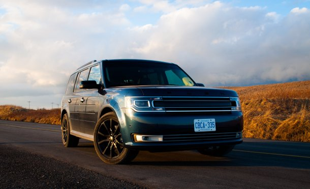 2017 Ford Flex Limited Blue Jeans front - Image: © Timothy Cain/The Truth About Cars