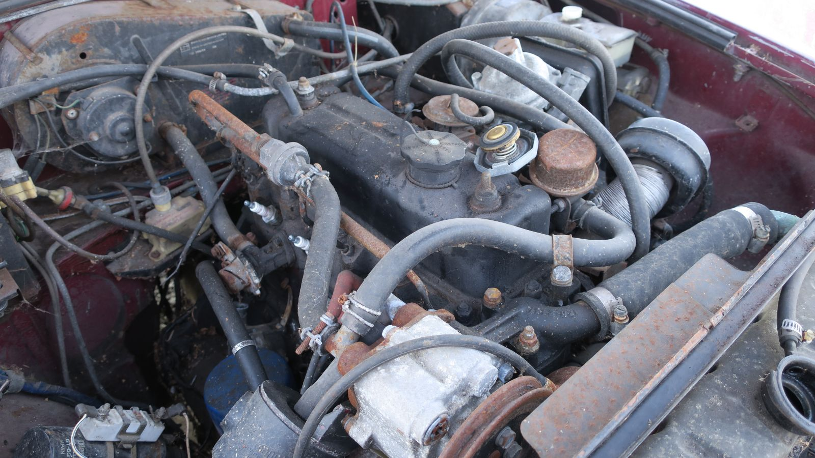 hight resolution of 1976 mg mgb in california wrecking yard engine 2017 murilee martin the