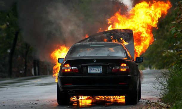 Burning Car Wallpaper Rolls Royce Spontaneous Combustion Of Parked Bmws Get A News At 11
