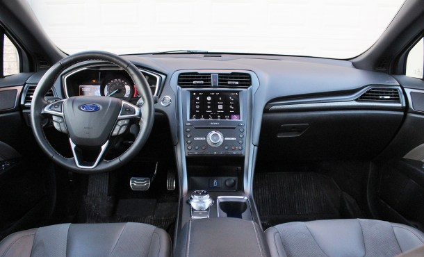 2017 Ford Fusion Sport Interior, Image: © 2017 Steph Willems/The Truth About Cars